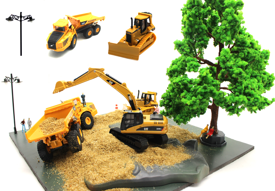 miniature landscaping and vehicles accessories for your miniature diorama