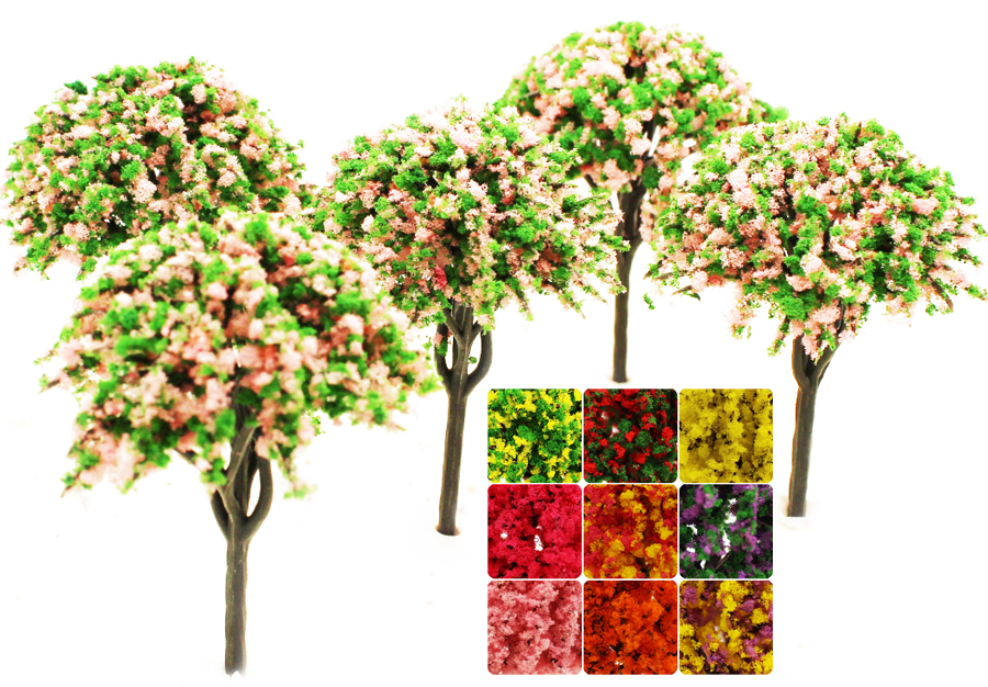 miniature landscaping trees for model hobbies